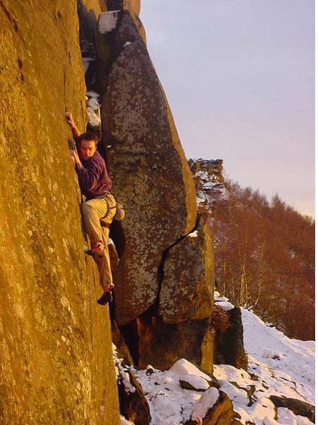 추울 때 하는 암벽 등반