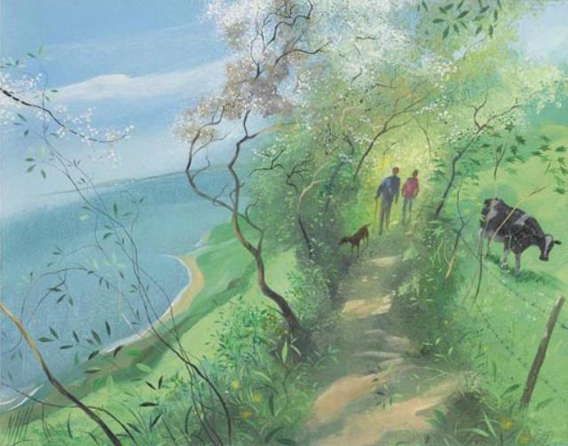 【尼古拉斯.哈钦森】绘画 - 空山鸟语 - 月滿江南